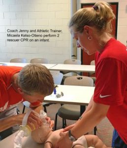 Coach Jenny and AT Micaela Kelso-Otieno Infant CPR